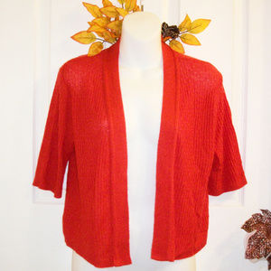 ND New Directions Open Drape Front Cardigan Shrug